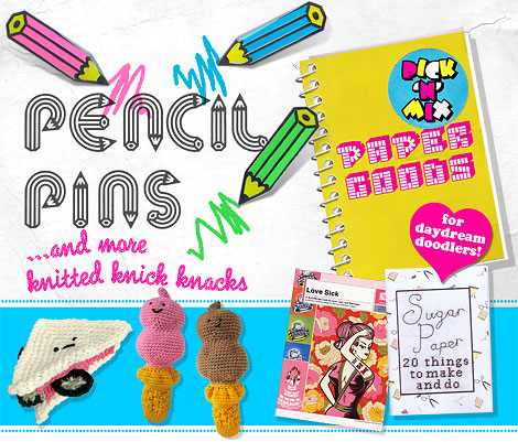 Lady Luck Rules OK presents pencil pins - cute pencil brooches for secret stationery stashers